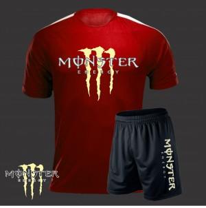 Bộ áo đấu Monster đỏ