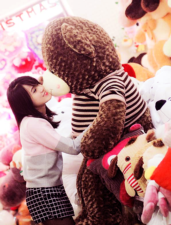 Gấu Teddy Mỏm Trắng Size 1.8m Loại 1 (khổ vải 2m) - Gấu bông Cần Thơ