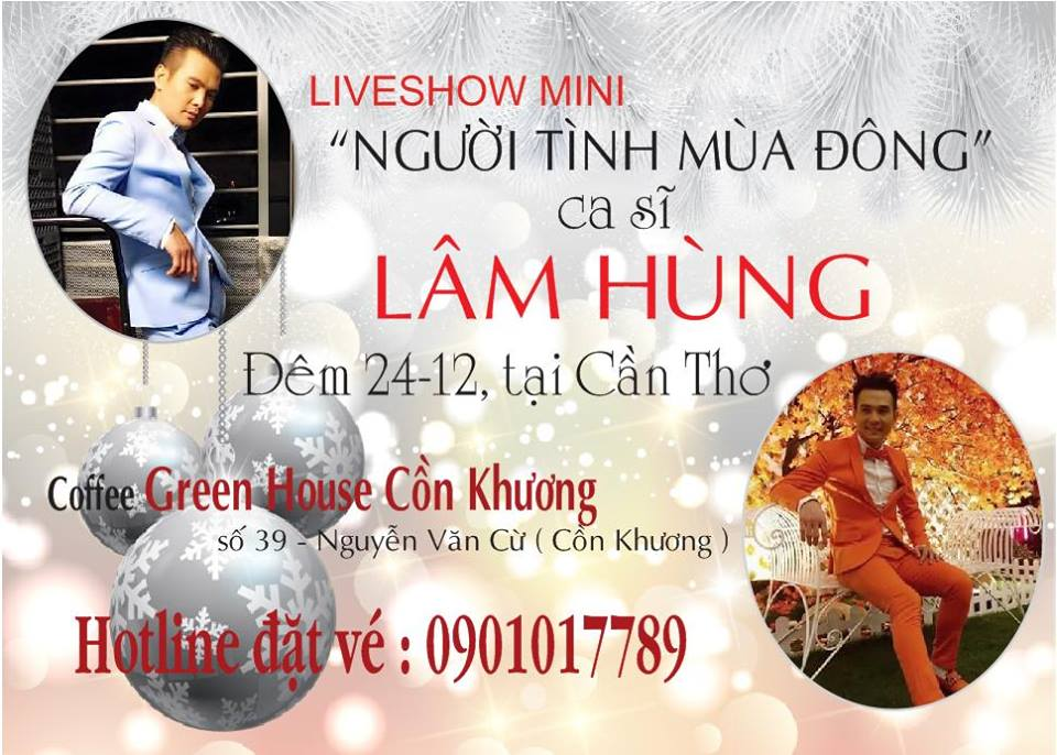 Ca sĩ Lâm Hùng giao lưu với khán giả Cần Thơ