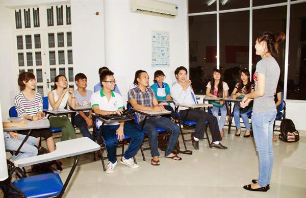 Lớp học tại Trung tâm Anh ngữ Âu Việt Mỹ