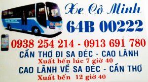 Xe khách Cô Minh: Chuyến Cần Thơ - Đồng Tháp