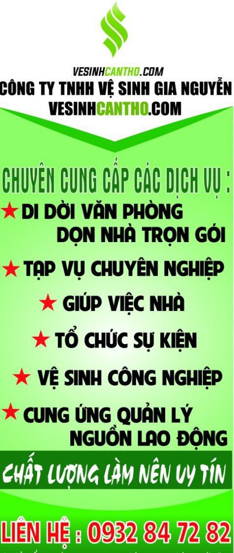 Vệ sinh Gia Nguyễn - Vệ sinh Cần Thơ