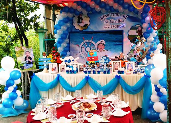 Dịch vụ trang trí tiệc – trang trí thôi nôi, sinh nhật cho bé,…