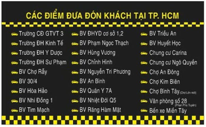Đưa đón khách Trọng Tín - Xe khach Long Xuyên - Sài Gòn