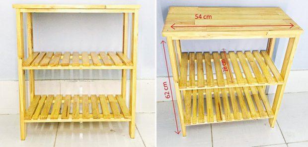 Kệ dể dép bằng gỗ thông 60 x 54 x 28