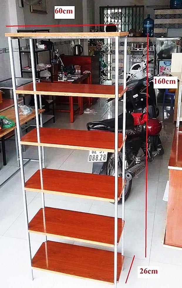 Kệ gỗ 6 tầng 160 x 60 x 26 cm