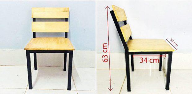 Ghế gỗ thông 63 x 34 x 33 cm