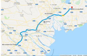 Xe khách Hoa Bột chuyên tuyến đường Long Khánh - Cần Thơ