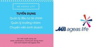 Tuyển dụng nhân viên kinh doanh MB Ageas Life