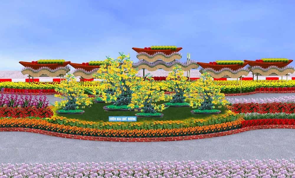 đường hoa cần thơ vườn mai quê hương