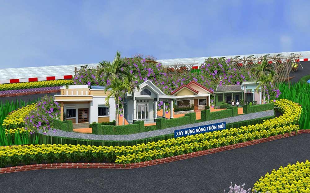 đường hoa cần thơ xây dựng nông thôn mới