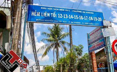 Đất nền thổ cư Hẻm Liên tổ 12-20 Nguyễn Văn Cừ
