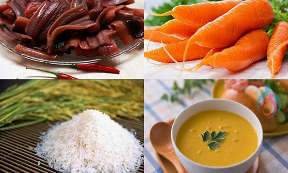 Cháo lươn cà rốt