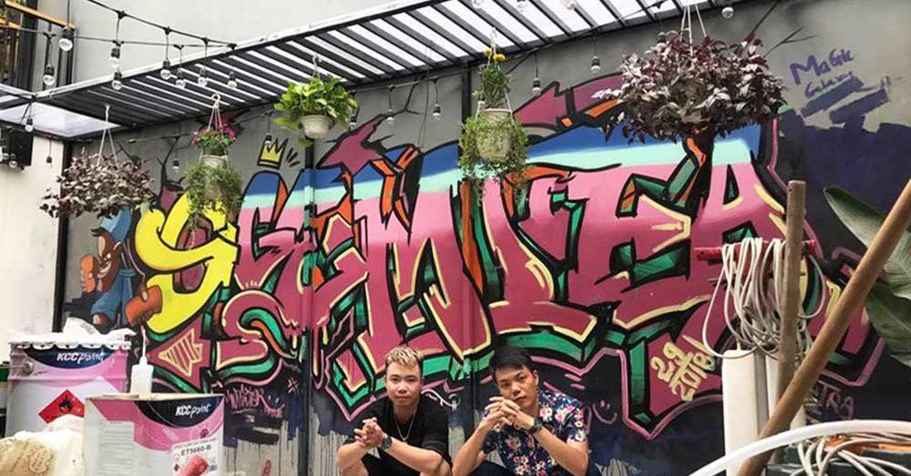 Vẽ tranh tường phong cách Graffiti