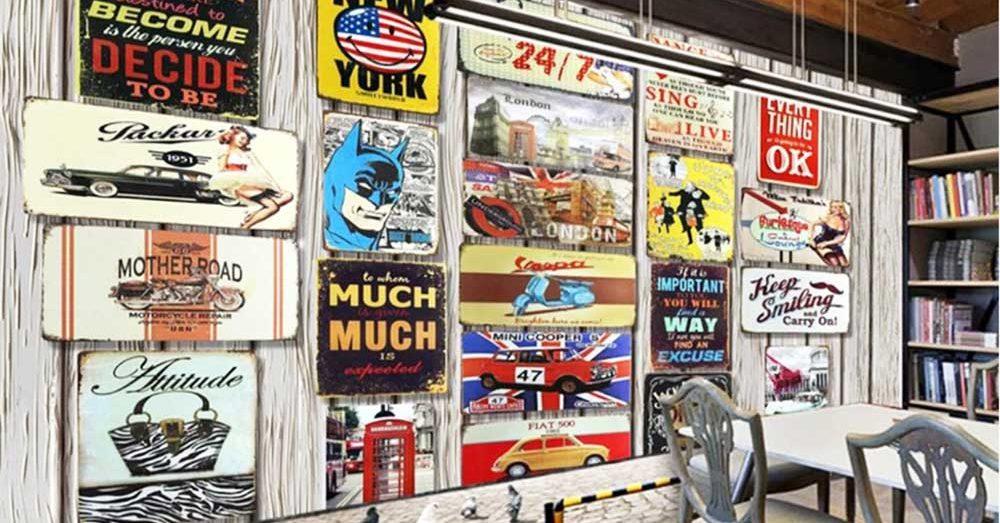 Vẽ tranh tường phong cách Vintage