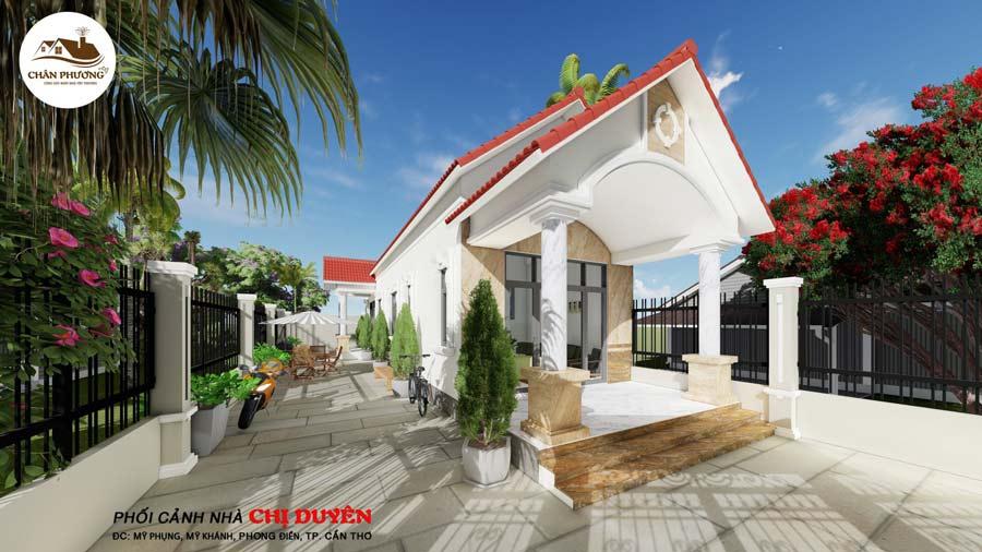 Xây nhà Biệt thự mái Thái tại Phong Điền TP Cần Thơ