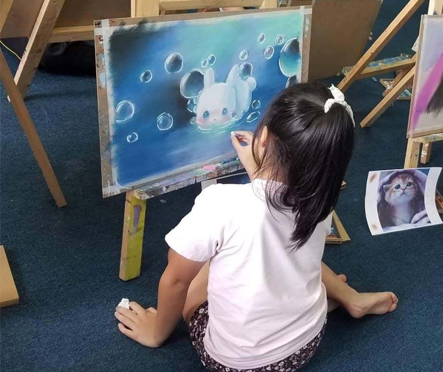 Trẻ học mỹ thuật với nhiều lợi ích không ngờ