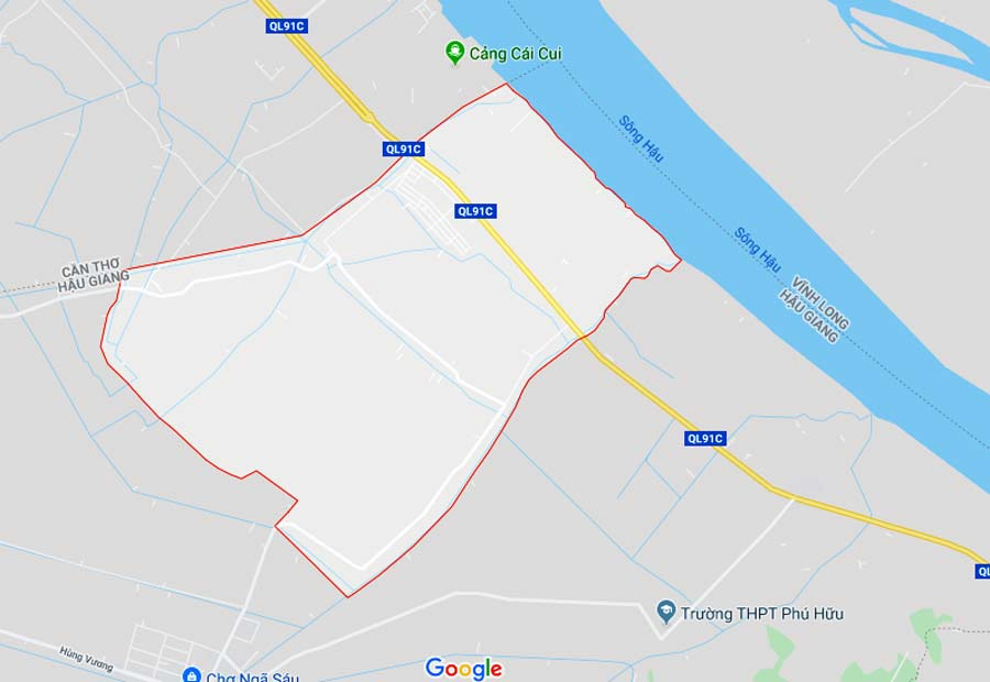Khu dân cư Đông Phú nằm trên trục đường huyết mạch Nam Sông Hậu với nhiều dự án đầu tư xung quanh