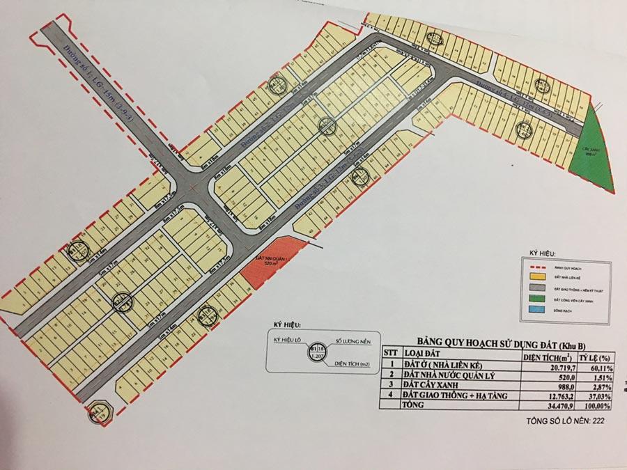 Bản đồ quy hoạch khu dân cư đại ngân