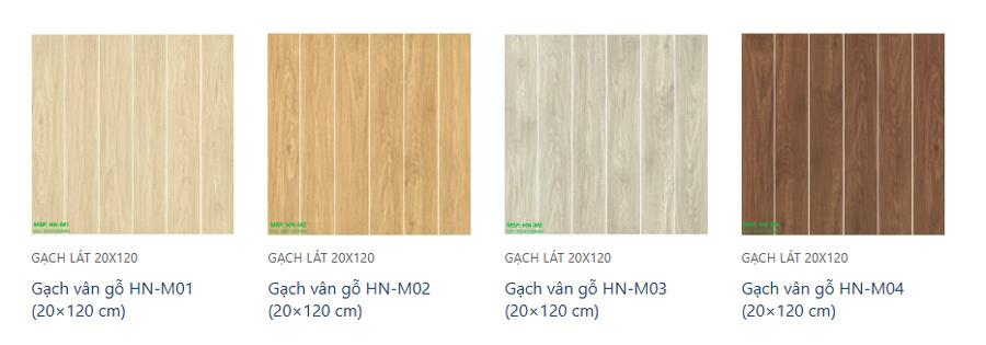 Mẫu mã gạch vân gỗ (giả gỗ) rất đa dạng và phong phú