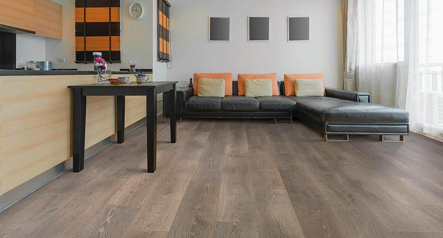 Sàn nhựa giả gỗ được sử dụng ở phòng khách