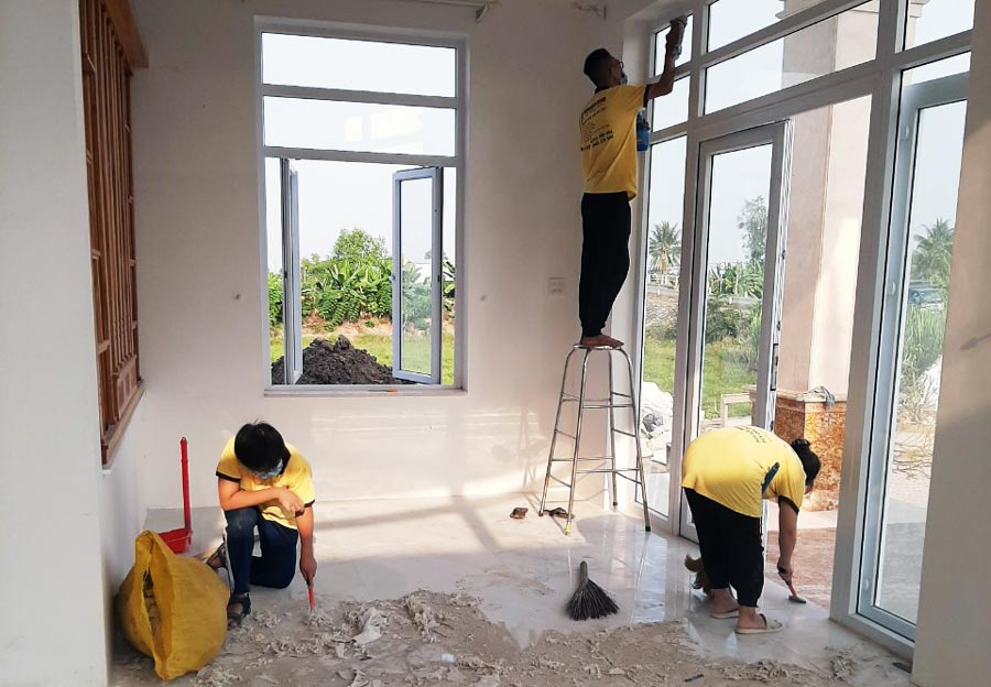Công ty Dịch vụ Vệ sinh Gia Phú chuyên: dịch vụ vệ sinh, tạp vụ,... tại Miền Tây