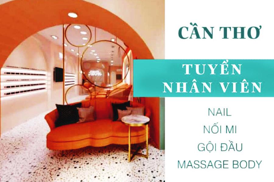 Vania Spa: Tuyển Thợ nail, gội đầu, massage, nối mi