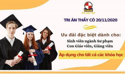 Âu Việt Mỹ chiêu sinh tháng 11/2020