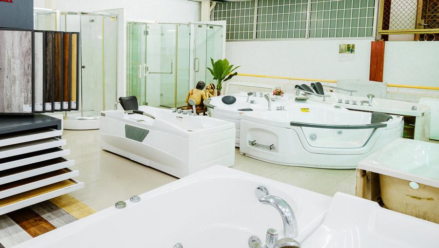 Cửa hàng Hải Đăng Cần Thơ trưng bày rất nhiều các mẫu bồn tắm từ các thương hiệu uy tín