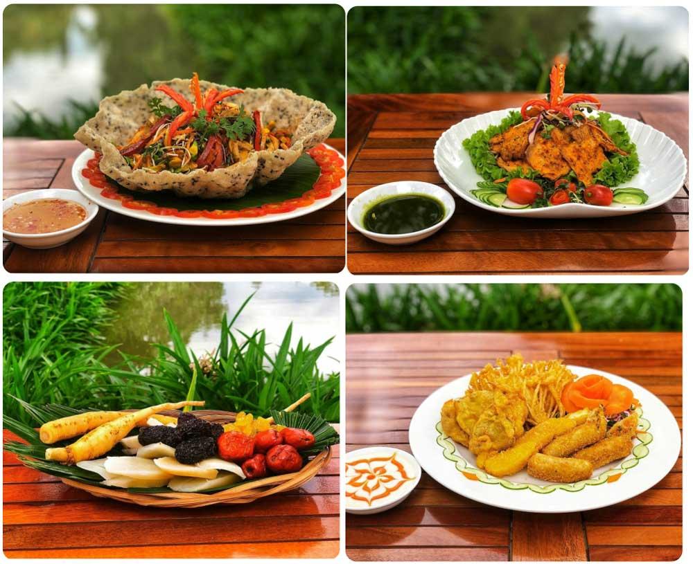 Một số món ăn tại Hakia Garden.