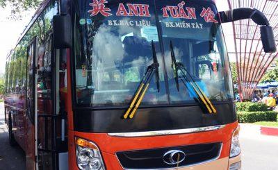 Nhà xe Anh Tuấn: Xe giường nằm Bạc Liêu Cần Thơ Sài Gòn