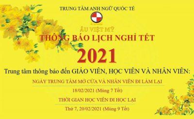 ÂU Việt Mỹ: Lịch nghỉ Tết & Ưu đãi sau Tết