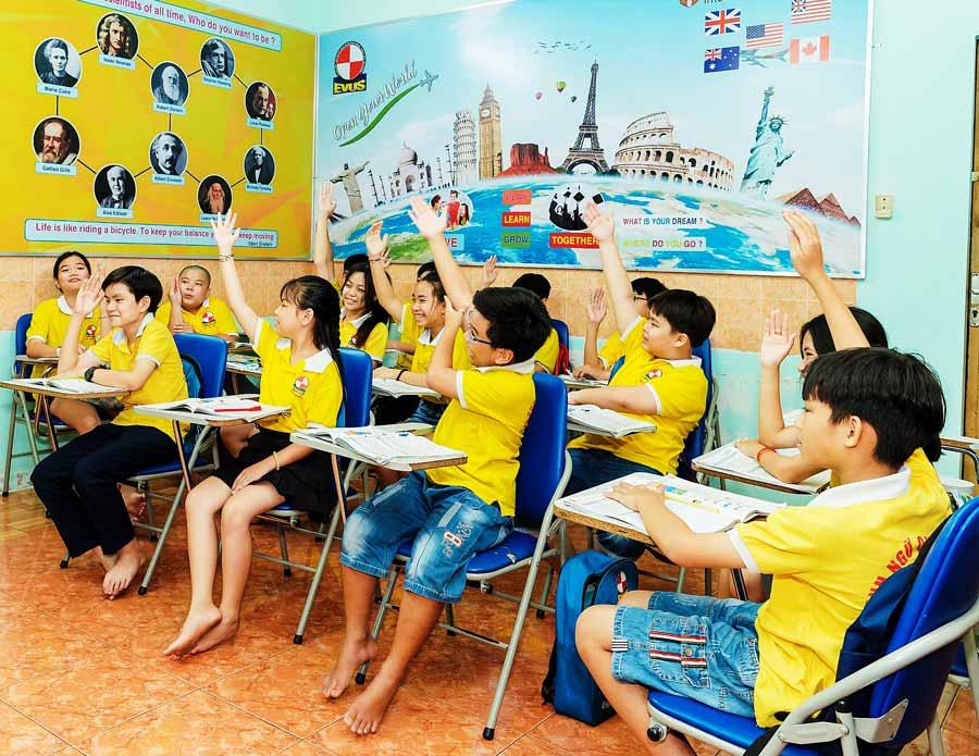 Trung tâm Anh ngữ EVUS Cần Thơ - Địa điểm tin cậy phát triển kỹ năng ngoại ngữ của bé