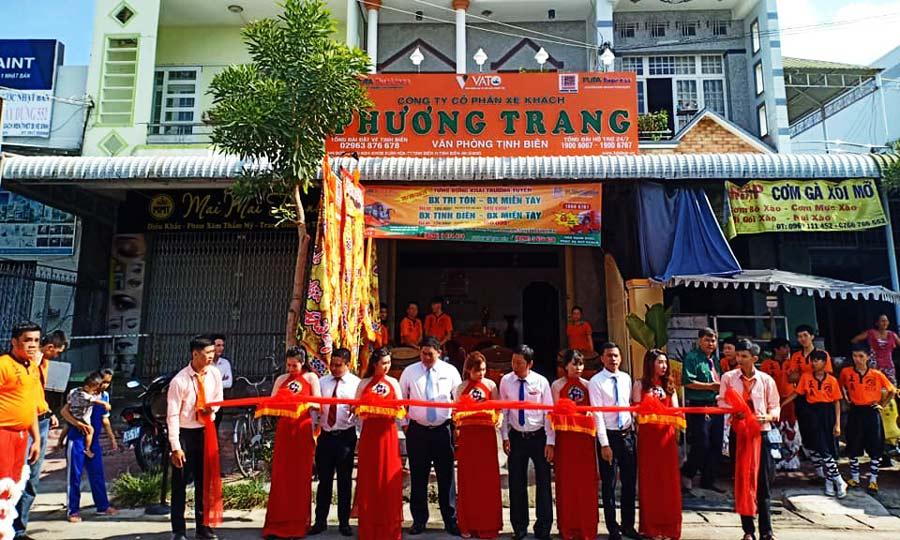 Văn phòng Nhà xe Phương Trang ở Tịnh Biên - An Giang