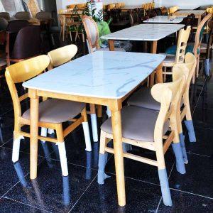 Bộ bàn ghế ăn Mango (4 - 6 ghế) | Bàn ghế Cần Thơ