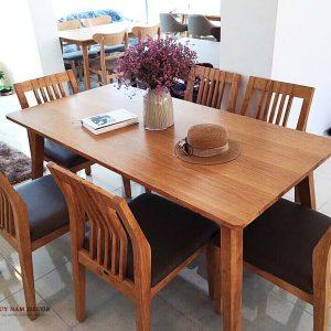 Bộ bàn ghế ăn Bingo (4 - 6 ghế) | Bàn ghế Cần Thơ