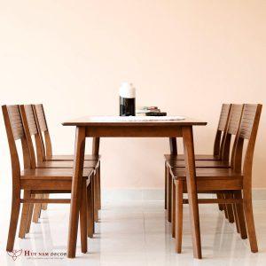 Bộ bàn ghế ăn Cherry (4 - 6 ghế) | Bàn ghế Cần Thơ