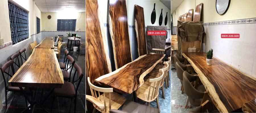 Mẫu bàn gỗ nguyên tấm - Me Tây