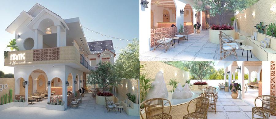 Dự án thiết kế nội thất quán coffee & milk tea tại Vĩnh Long